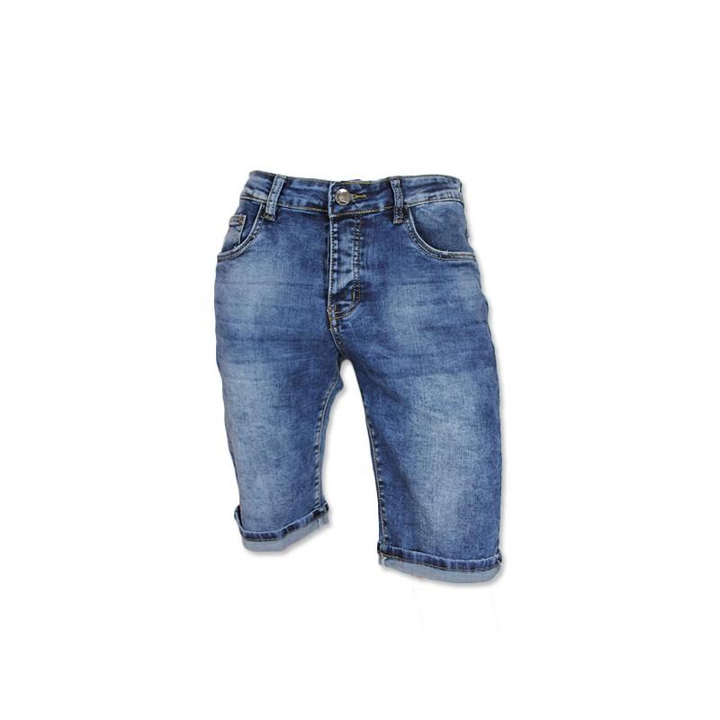 Jeans Korte Broek Heren.Edo Jeans Heren Short Stretch Licht Blauw