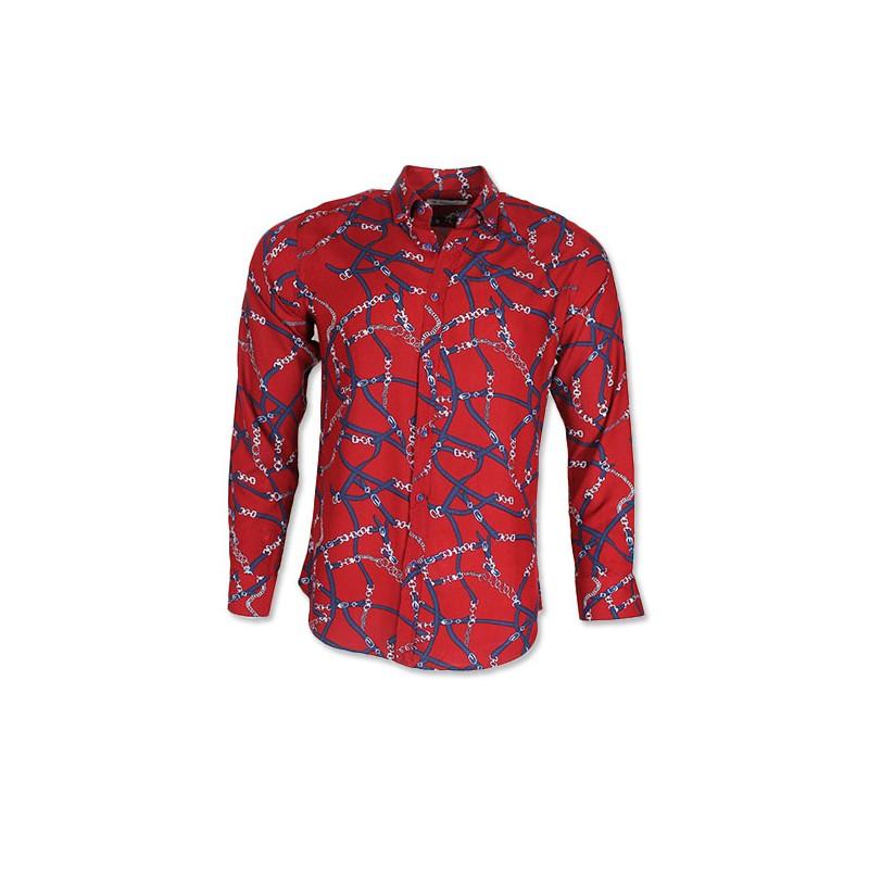 Heren Overhemd Rood.Roballi Heren Overhemd Met Trendy Design Stretch Rood