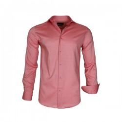 groothandel outlet schoeisel grote korting Gaznawi - Heren Overhemd - Enkele Kraag - Licht Rood